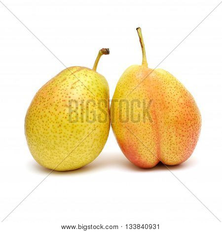 ripe pears isolated on the white background