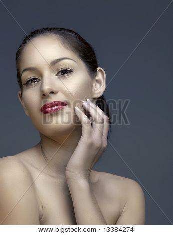 Beautiful Woman With Natural Make-up