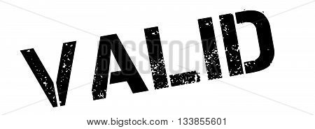 Valid Black Rubber Stamp On White