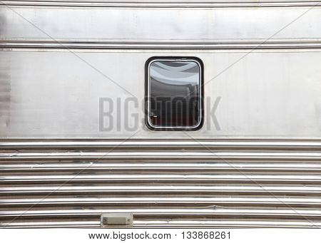 Single window on train bogie