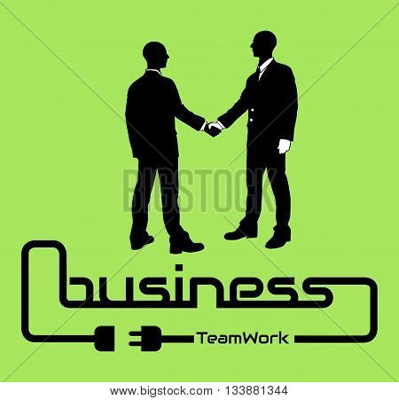 BUSINESS TEAMWORK BACKGROUND FLYER POSTER DESIG GREEN