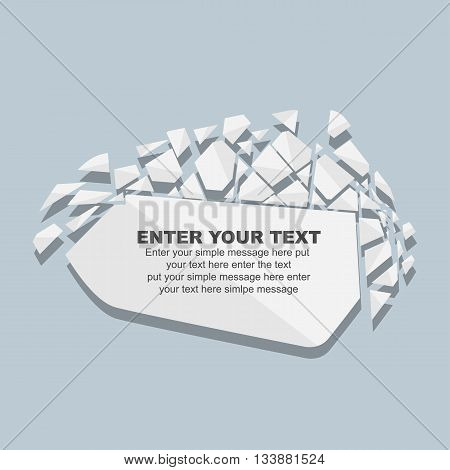 CRUSHED ELEMENTE TEMPLATE MESSAGE STICKER FOURTH EDITION WHITE