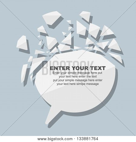 CRUSHED ELEMENTE TEMPLATE MESSAGE STICKER THIRD EDITION WHITE