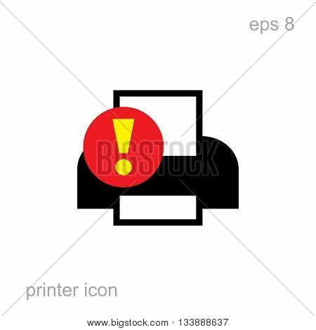 Simple Printer Error Icon