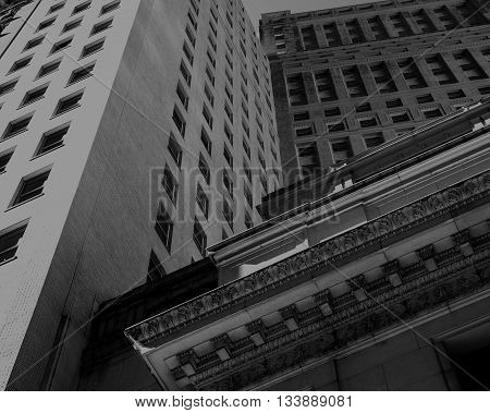 Black and white building in New York