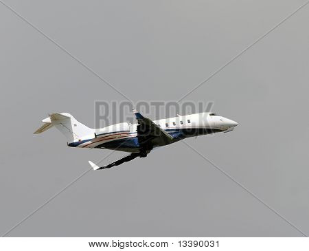 Private Jet Taking Off