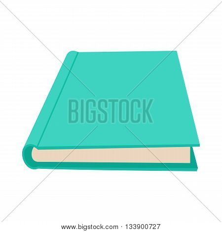 Closed book icon in cartoon style on a white background