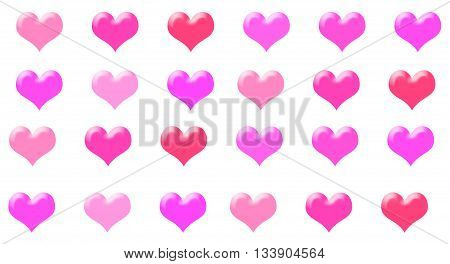 Love Heart Pink Background Able to be Tiled Pattern