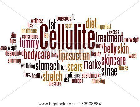 Cellulite, Word Cloud Concept 2