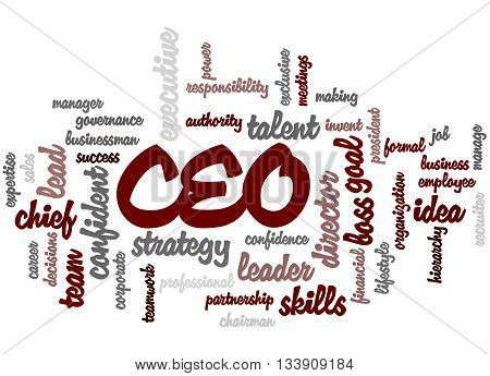 Ceo - Chief Executive Officer, Word Cloud Concept 6