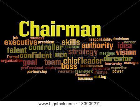 Chairman, Word Cloud Concept