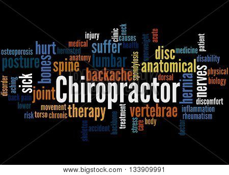 Chiropractor, Word Cloud Concept 6