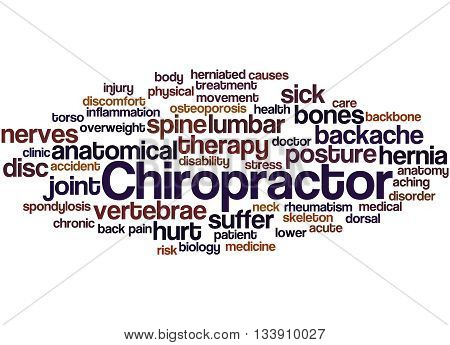 Chiropractor, Word Cloud Concept 8