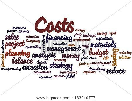 Costs, Word Cloud Concept 4