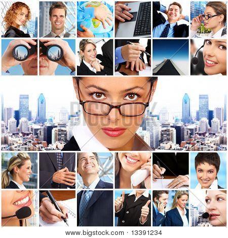 Geschäftsleute.  Unternehmer und Business-Frauen