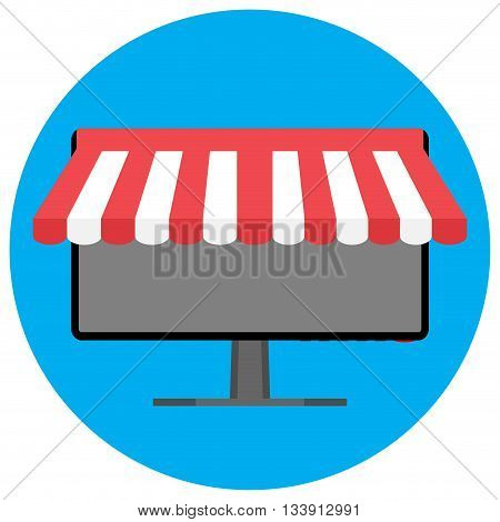 Online shopping icon. Shopping ecommerce and online store online shopping icon vector illustration