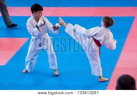 Children Compete In Karate