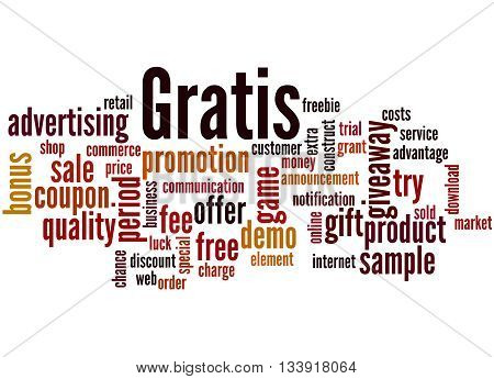 Gratis, Word Cloud Concept 8