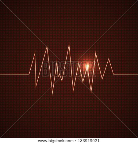 abstract vector electrocardiogram background with light illustration