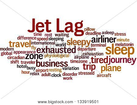 Jet Lag, Word Cloud Concept 8