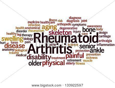 Rheumatoid Arthritis, Word Cloud Concept 8