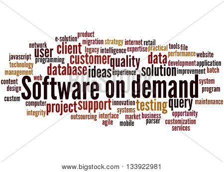Software On Demand, Word Cloud Concept 6