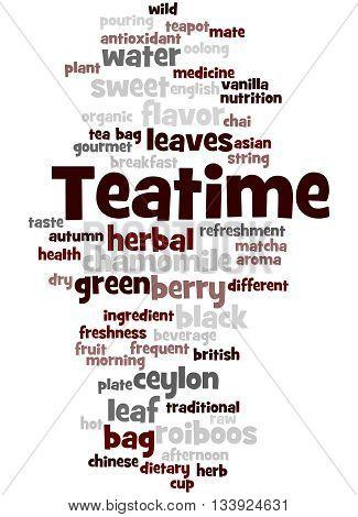 Teatime, Word Cloud Concept 2