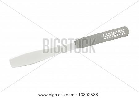 Emery board for a pedicure. Isolated file on white background