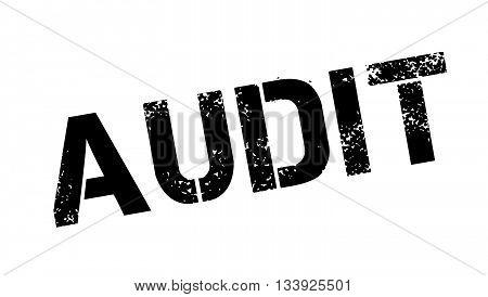 Audit Black Rubber Stamp On White