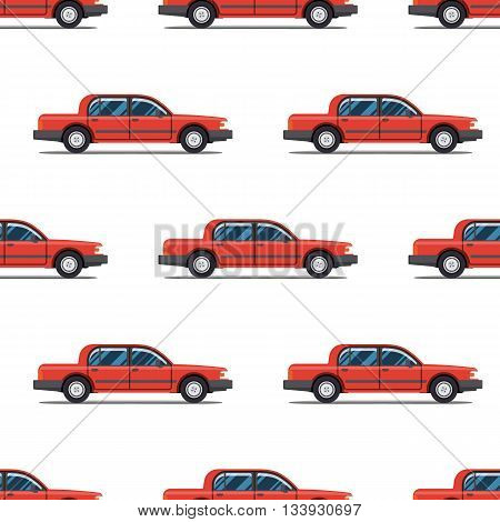 seamless pattern of red luxary cars Limo sedans