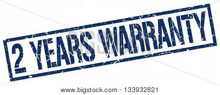 2 Years Warranty Stamp. Vector. Stamp. Sign. 2.years.warranty. Blue.