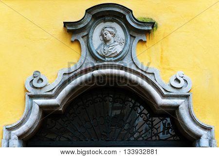 Salzburg, Austria - September 25, 2015: House of Wolfgang Amadeus Mozart, Salzburg, Austria, Europe