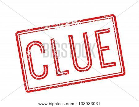 Clue Red Rubber Stamp On White