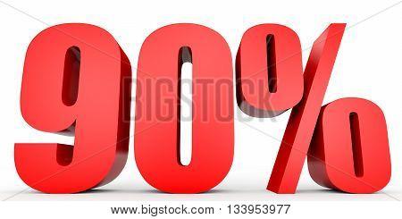Discount 90 Percent Off. 3D Illustration.