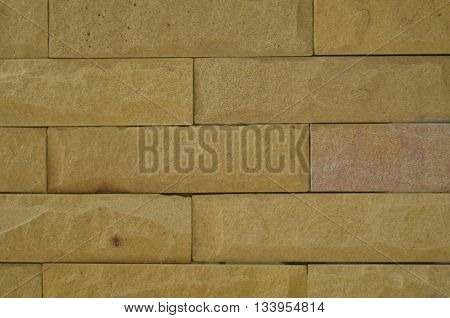 Sandstone was rebuilt wall for decoration wall house building generally.