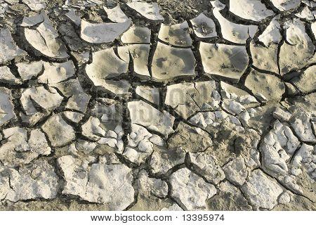 Dry Soil With Cracks