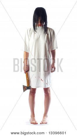 The Girl With An Axe And Wet Hair