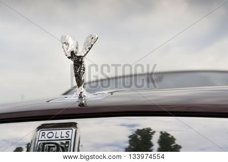 Prague, Czech Republic - May 20: Rolls-royce Wraith Coupé Car With Spirit Of Ecstasy Emblem - The Mo