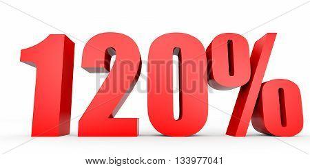 Discount 120 Percent Off. 3D Illustration.
