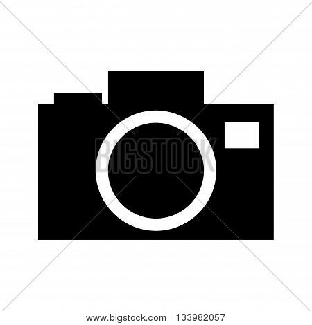 issolated flat camera silhouette  icon design front view , Vector