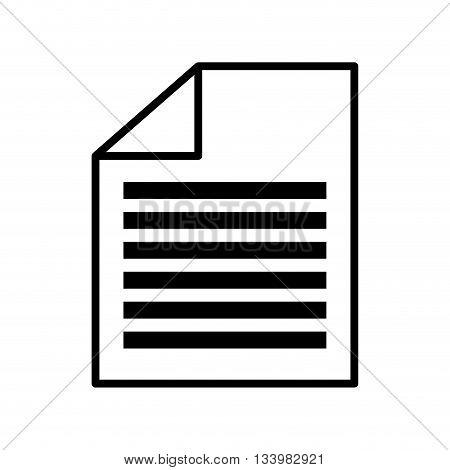 single folded flat sheet icon design illustration  , Vector