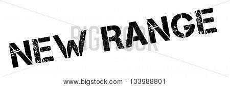 New Range Black Rubber Stamp On White