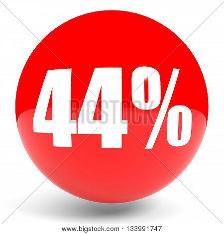 Discount 44 Percent Off. 3D Illustration.