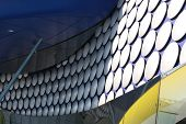 a close up of the selfridges building at the birmingham bullring poster