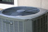 Close up of High efficiency modern AC-heater unit poster