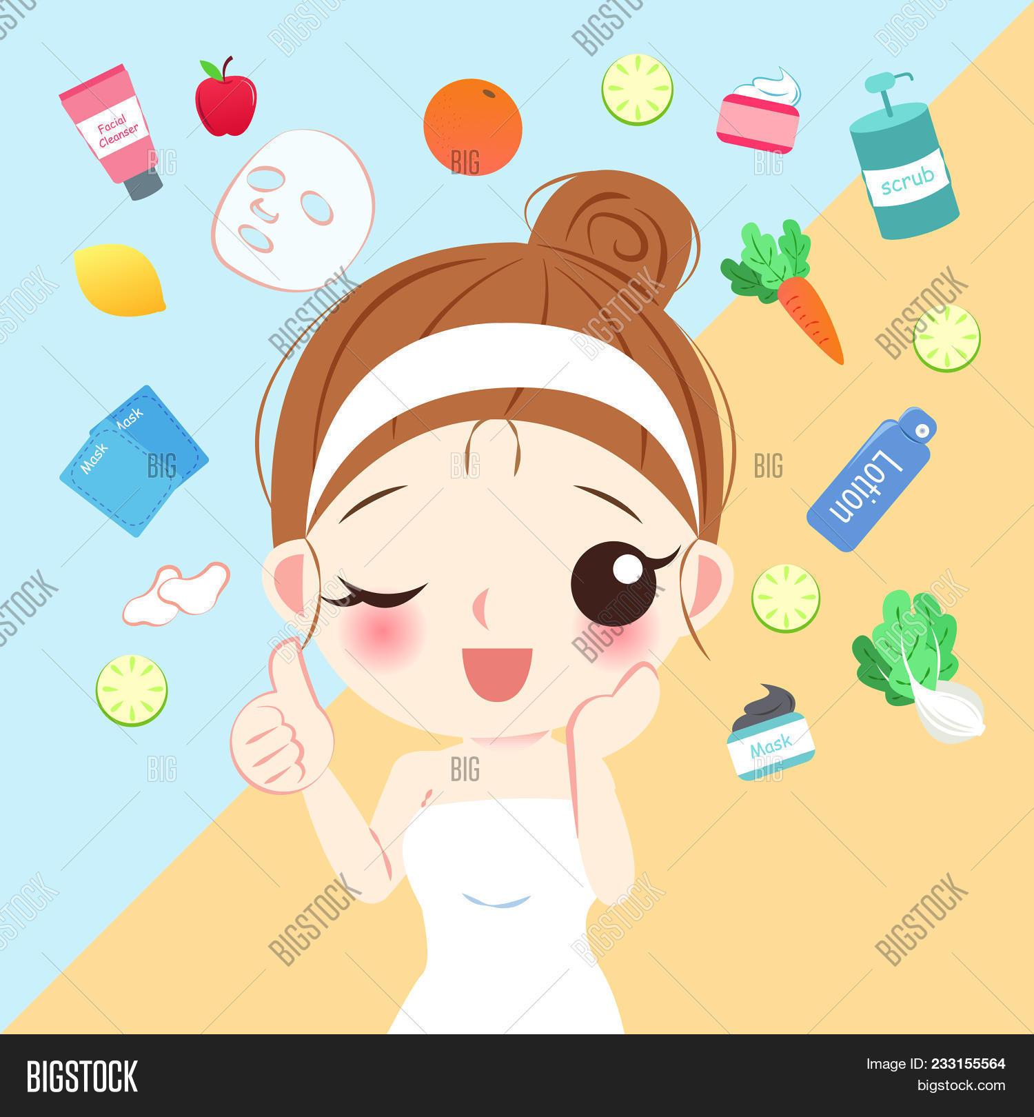 Beauty Cartoon Skin Vector Photo Free Trial Bigstock