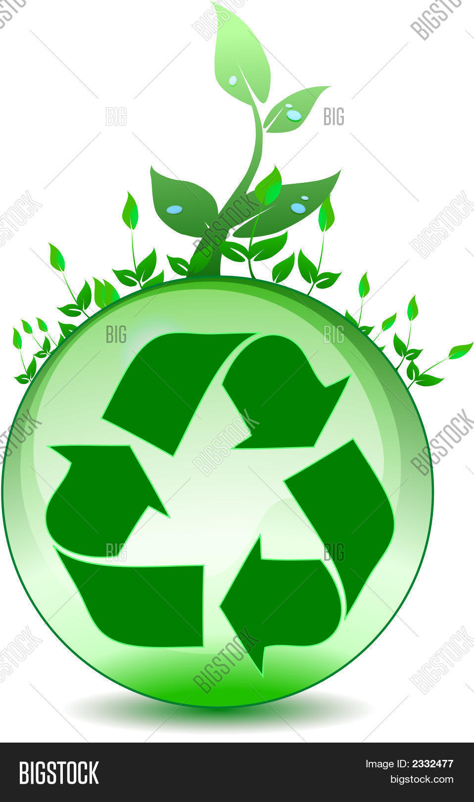 Recycling Symbol On Image Photo Free Trial Bigstock