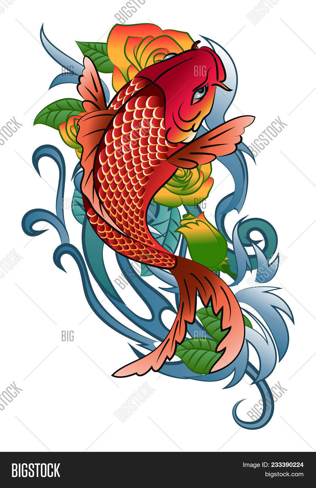 Illustration Koi Fish Image & Photo (Free Trial) | Bigstock
