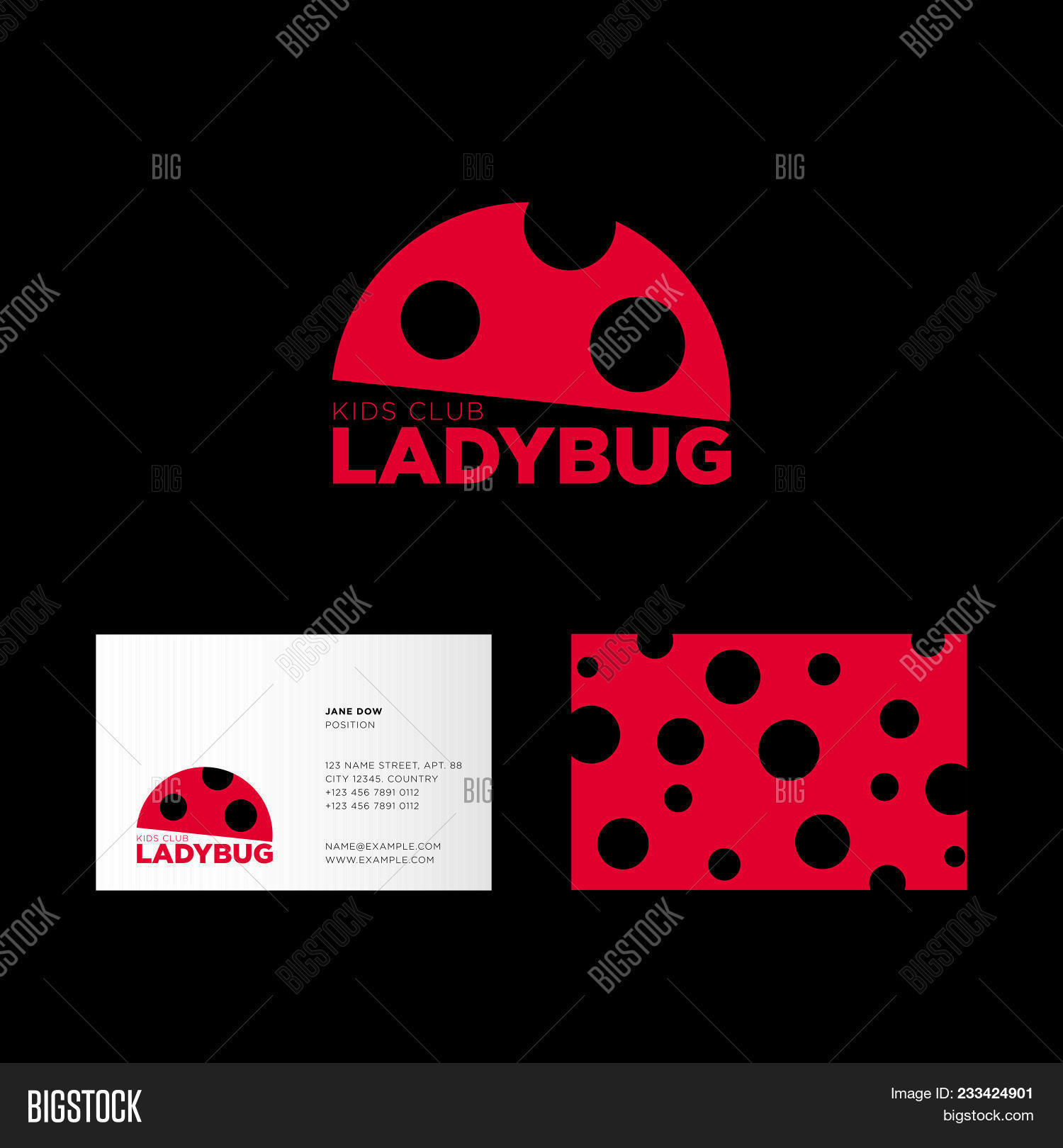 Ladybug logo kids vector photo free trial bigstock ladybug logo kids club logo flat icon of ladybug the business card and colourmoves