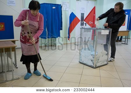 Election Of The Russian President. Polling Station